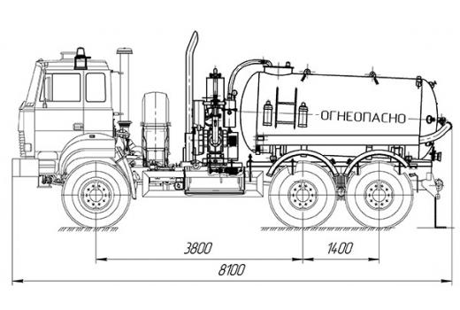 Фото автомобиля Автоцистерна для сбора газового конденсата и нефти АКН-6 на базе Урал-4320