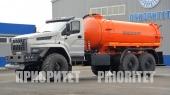 Автоцистерна для сбора газового конденсата и нефти АКН-10 с открывающимся дном на базе Урал-4320