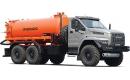 Фото автомобиля Автоцистерна для сбора газового конденсата и нефти АКН-10 с открывающимся дном на базе Урал-4320